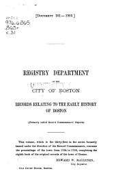 Records Relating to the Early History of Boston: Volume 31