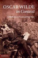 Oscar Wilde in Context PDF