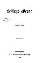 Lessings Werke: Neunter Band