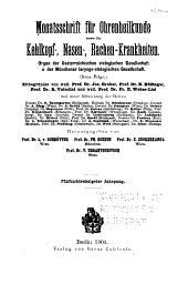 Monatsschrift für Ohrenheilkunde und Laryngo-Rhinologie: Band 35