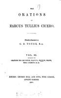 The orations of Marcus Tullius Cicero  tr  by C D  Yonge PDF