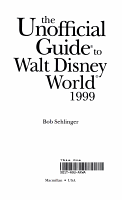 The Unofficial Guide to Walt Disney World  1999 PDF