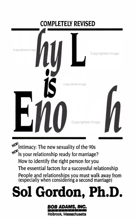 Why Love is Not Enough PDF