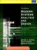 Modern Systems Analysis and Design  5 e PDF