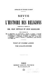 Revue de l'histoire des religions: Volume42