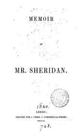 Memoir of mr. Sheridan [by W. Smyth.].
