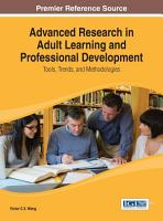 Advanced Research in Adult Learning and Professional Development  Tools  Trends  and Methodologies PDF