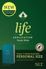 NLT Life Application Study Bible, Third Edition, Personal Size (Leatherlike, Teal Blue, Indexed)