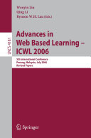 Advances in Web Based Learning -- ICWL 2006