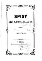 Spisy Drah. M. barona Villaniho