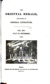 The Oriental Herald and Journal of General Literature: Volume 14