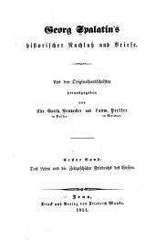 Historischer nachlass und briefe: Band 1