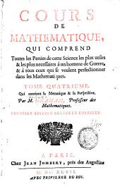 Cours de mathematique: La mechanique & la perspective