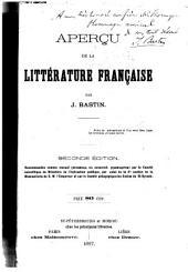 Aperçu de la littérature française