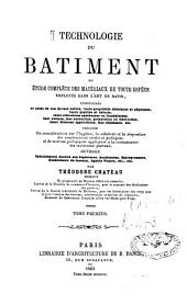 Technologie du bâtiment: Volume 1