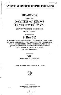 Investigation of Economic Problems PDF