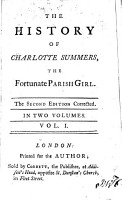 The History Of Charlotte Summers  The Fortunate Parish Girl PDF