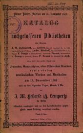 Veilingcatalogus, boeken Anders, J.W. Bettendorf, Ludwig Bischoff, F. Borgs, Breuer, von Donop, P. Heuser, 18 november e.v. 1867