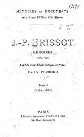 J.-P. Brissot: Memoires (1754-1793)