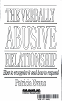 The Verbally Abusive Relationship PDF