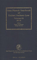 Max Planck Yearbook of United Nations Law  Volume 22  2018  PDF