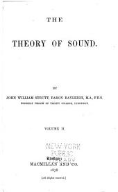 The Theory of Sound: Volume 2