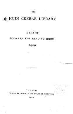 A List of Books in the Reading Room  1909 PDF