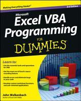 Excel VBA Programming For Dummies PDF