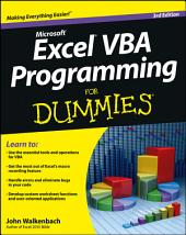 Excel VBA Programming For Dummies: Edition 3