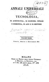 Giornale agrario lombardo-veneto: Volume 1