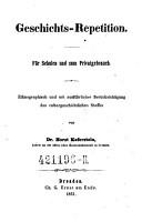 Geschichts Repetition  Ethnograph  u  m  Ber  cksichtigung des culturgeschichtlichen Stoffes PDF