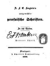 A. F. E. Langbeins ausgewählte prosaische Schriften: Band 2