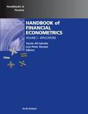 Handbook of Financial Econometrics: Applications