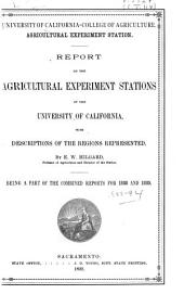 Report of the Agricultural Experiment Station of the University of California ...: 1888-1894