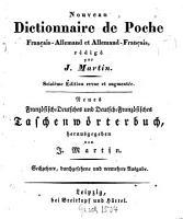 Nouveau Dictionnaire de Poche Fran  ais Allemand et Allemand Francais PDF