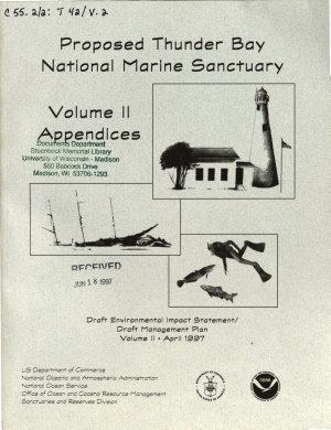 Proposed Thunder Bay National Marine Sanctuary