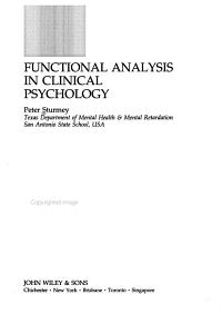 Functional Analysis in Clinical Psychology