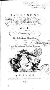 Harrison's British Classicks: Dr. Johnson's Rambler. Lord Lyttleton's [i.e. Lyttelton's] Persian letters
