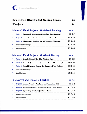 Microsoft Excel 97   Illustrated Projects PDF