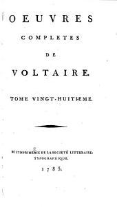 Œuvres complètes de Voltaire: Volume28