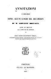 Annotazioni e discorsi sopra alcuni luoghi del Decameron di m. Giovanni Boccacci: Fatte da deputati alla correzione del medesimo