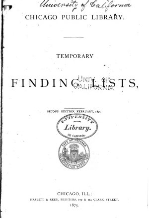 Temporary Finding Lists