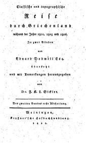 Classische und topographische Reise durch Griechenland während der Jahre 1801, 1805, und 1806 ...