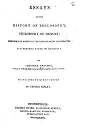 Essays on the History of Philosophy ...