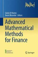 Advanced Mathematical Methods for Finance PDF