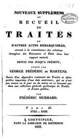 Nouveaux suppléments au Recueil de traités... depuis 1761 jusqu'à présent: 1765-1829