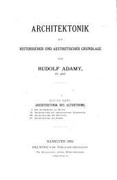 Architektonik auf historischen und aestetischer grundlage: Band 1,Teile 3-4