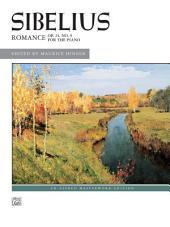 Romance, Op. 24, No. 9: Early Advanced Piano Solo