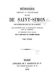 Mʹemoirs complets et authentiques du duc de Saint-Simon sur le siècle du Louis XIV et la rʹegence: Volume11
