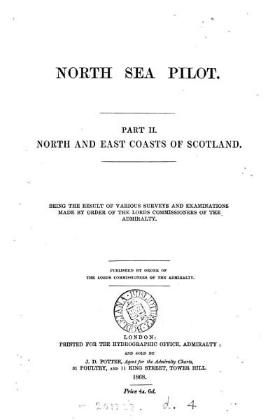 Download North sea pilot  Pt  1  2nd  ed   With  Suppl   and  Admiralty notices to mariners   1st   With  Suppl   and  Admiralty notices to mariners Book